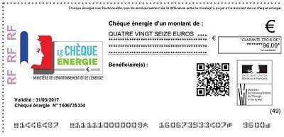 chèque énergie électricité gaz
