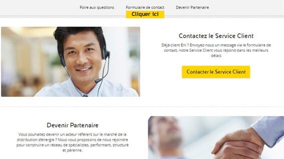 fournisseur service client eni