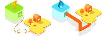 raccordement électricité et gaz
