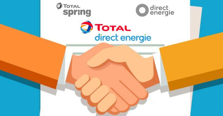 Total Direct Energie nouveau logo rachat fusion