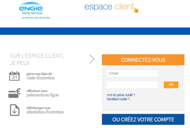 Création d'un compte sur l'espace client Engie Home Service